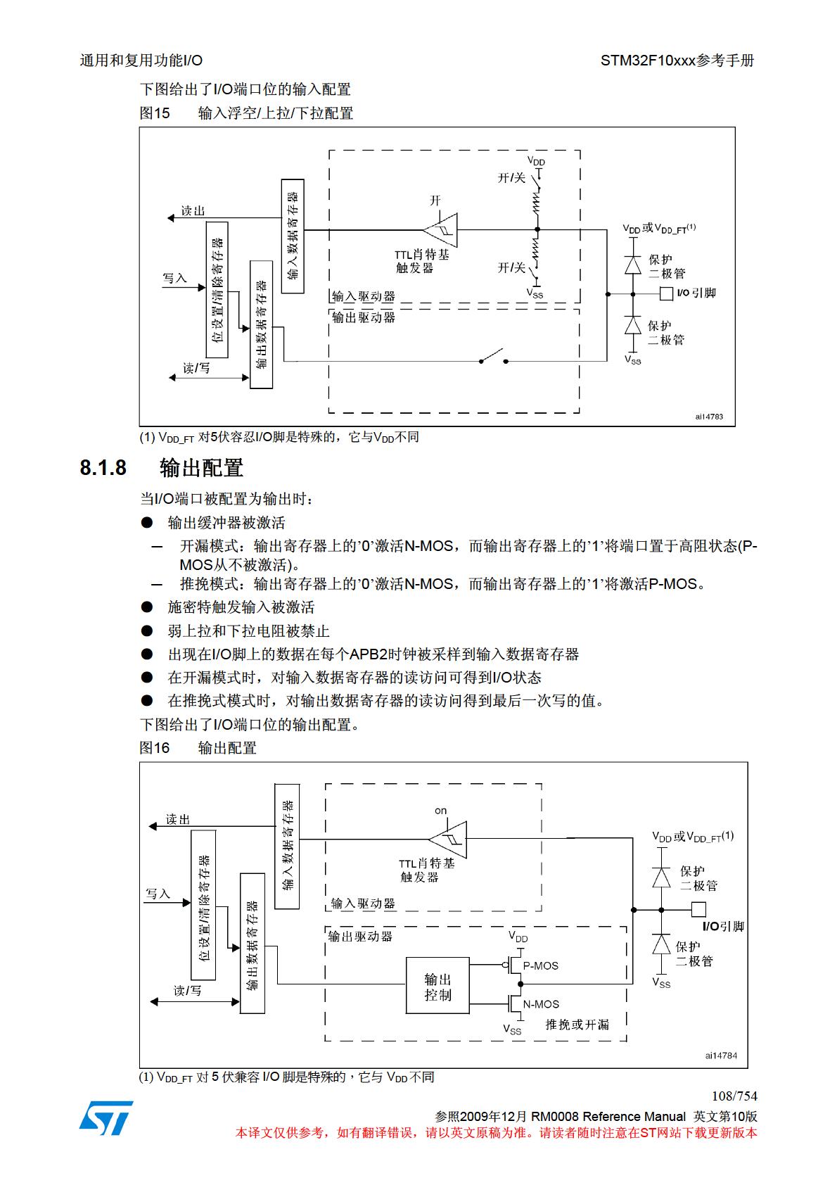 stm32f10x微控制器参考手册 v10