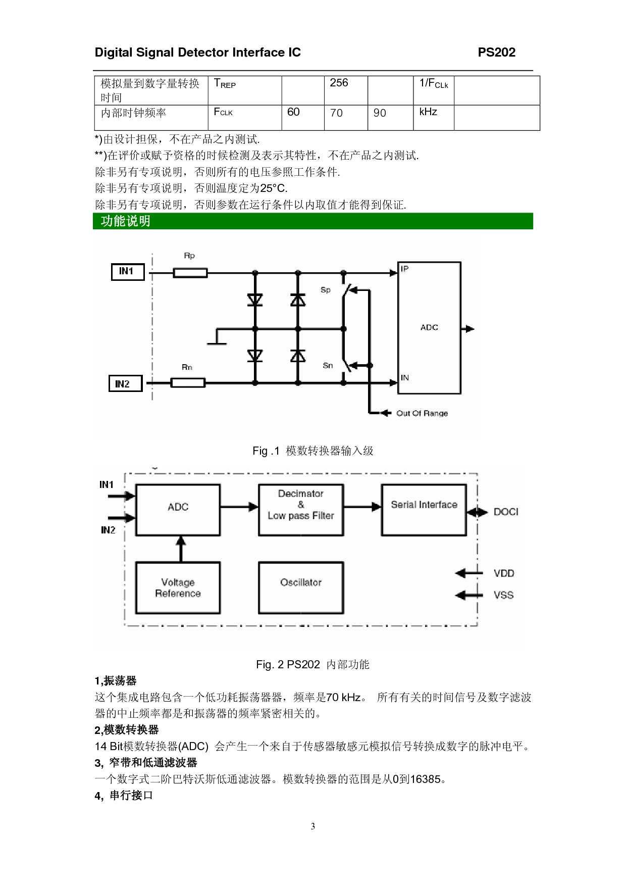 传感器信号检测及数字处理接口电路ps202